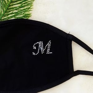 "New💎Rhinestone monogrammed""M""mask / For stocking"
